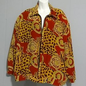 FUDA INTERNATIONAL Silk Jacket Size 2X